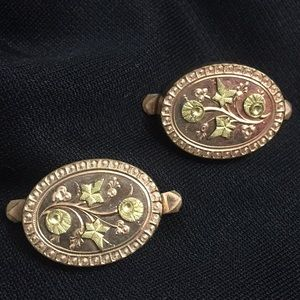 Vintage Gold Color Cuff Links 1883